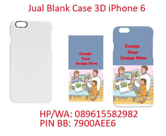 Jual case polos 3D iPhone 6