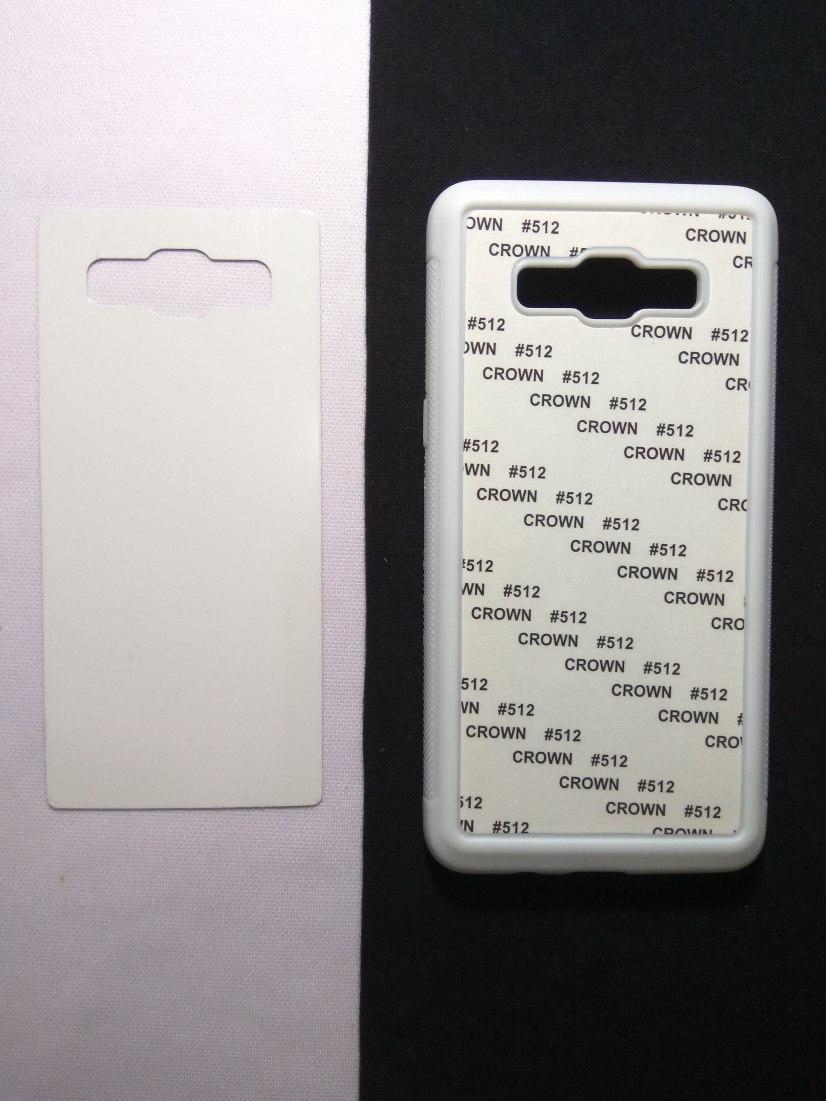 Jual Case Polos 2D Karet Samsung J5 Putih