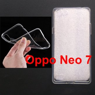 Jual SoftCase Polos UV Printing Oppo Neo 7