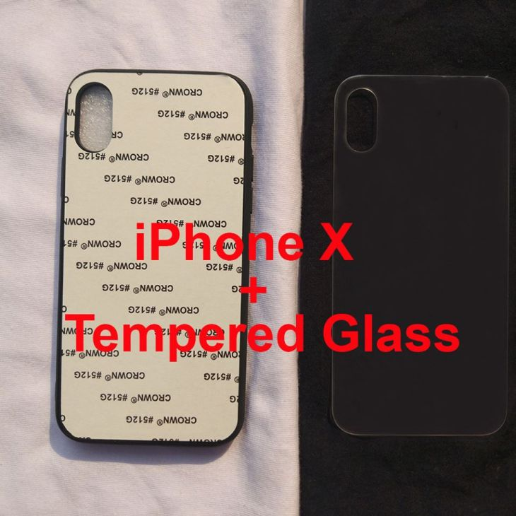 Jual Case Polos UV Print + Tempered Glass iPhone X