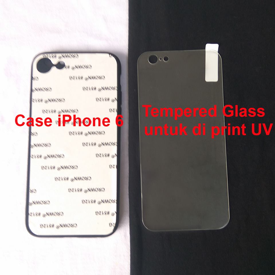 Case Polos Uv Print Tempered Glass Untuk Iphone 6 Jual Cashing  Terbaik Handphone
